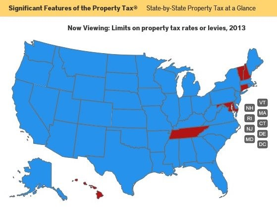 Is There Limit To How Much States Can >> New Online Resource State By State Property Tax At A Glance