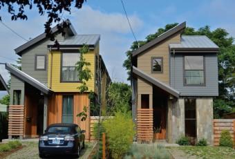 """Portland, Oregón, está considerando la posibilidad de permitir más hogares altos y """"flacos"""", construidos sobre la mitad de la cantidad de tierra necesaria en virtud de zonificación unifamiliar."""