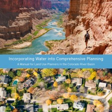 Image of the cover of the Babbitt Center's Manual for Incorporating Water into Comprehensive Planning