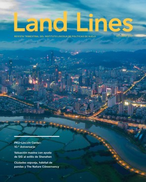 Cover of the Spanish edition of Land Lines, October 2017