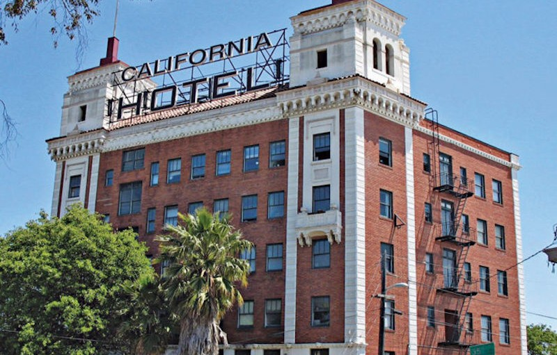 This image shows the California Hotel.