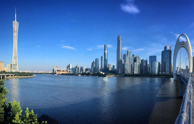 Skyline view of Guangzhou, China