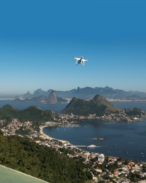 A drone flies over Buenos Aires, Brazil