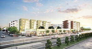 Rolland Curtis Gardens, a mixed-use, transit-rich development along Metro's Expo/Vermont rail line, is expected to provide 140 affordable family homes in a culturally rich, historic South Los Angeles neighborhood.