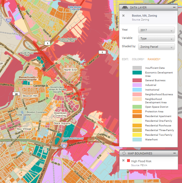Zoning and flood risk in Boston